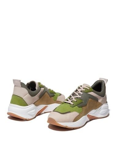 Timberland Timberland Kadın Düz Bej Bağcıklı Sneaker Bej